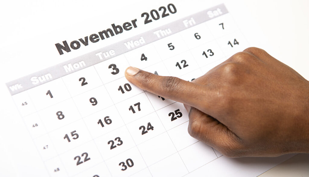 November 3, 2020, African American Represents The Election Day 2